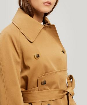 Panel Detail Trench Coat