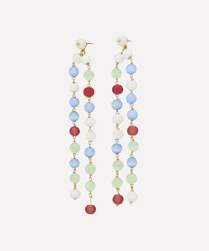 Veleta Stone Beaded Drop Earrings