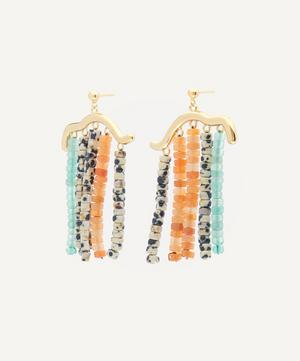 Lluvia Mineral Stone Beaded Earrings
