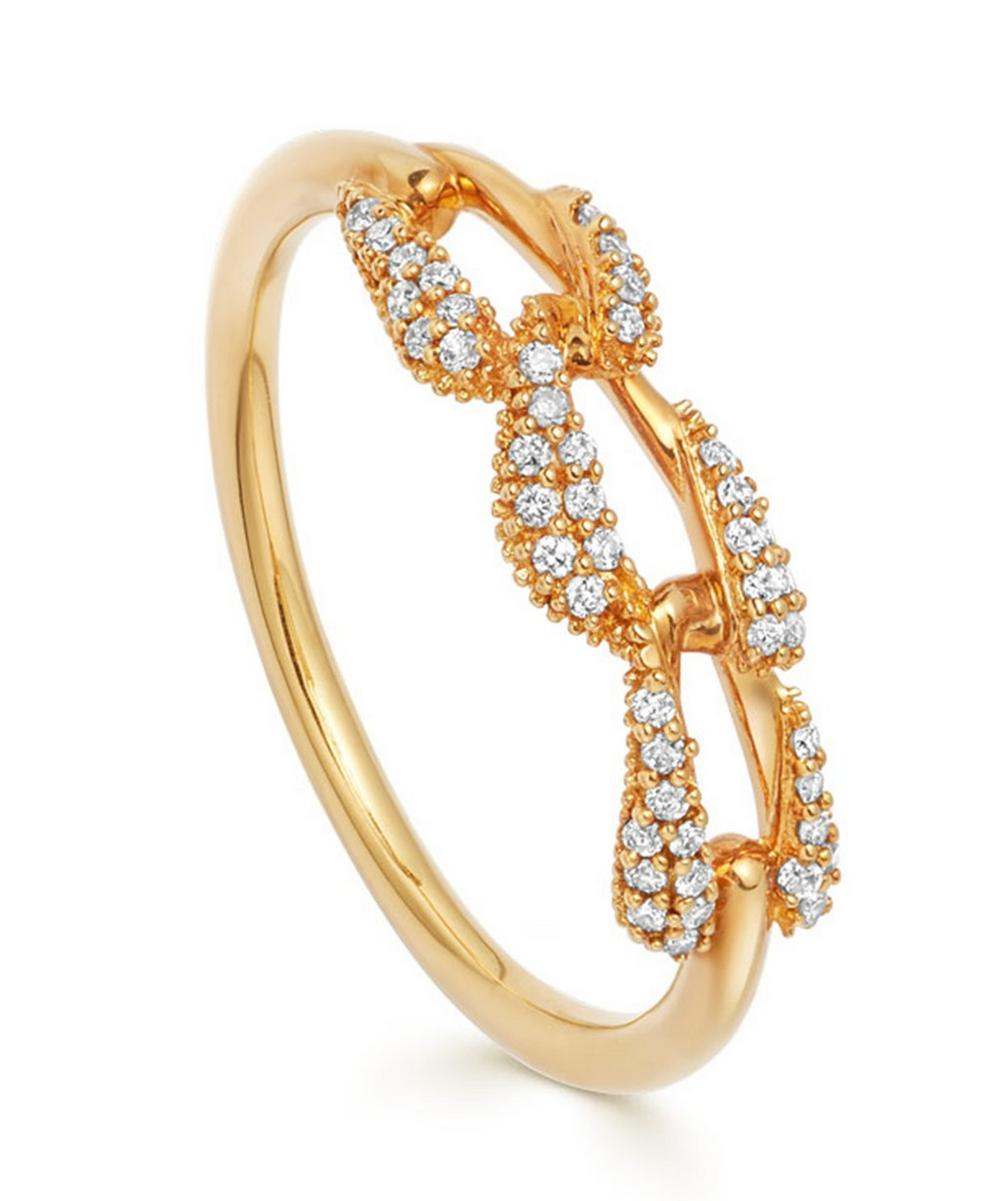 Astley Clarke Gold Mini Vela Diamond Ring