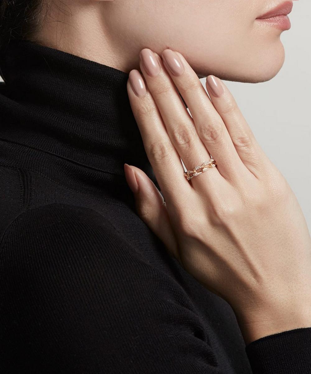Gold Vela Diamond Eternity Ring