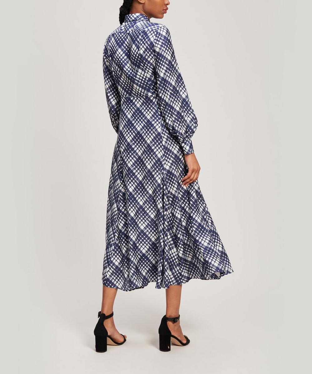 Maddison Check Print Maxi Dress