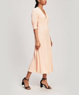 Martha Micro Floral Print Midi Dress
