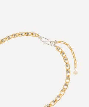 Gold-Plated Le Chic Baroque Pearl Crystal Choker Necklace