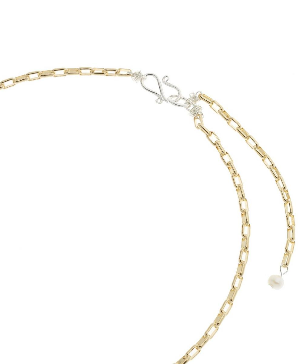 Gold-Plated Be My Lover Crystal Heart Pearl Necklace