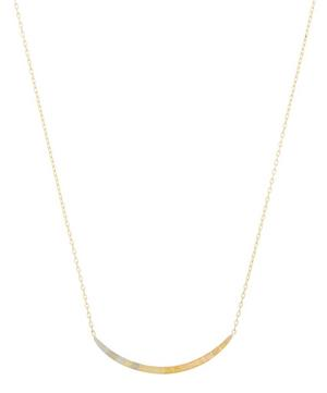 Gold Rainbow Arc Pendant Necklace