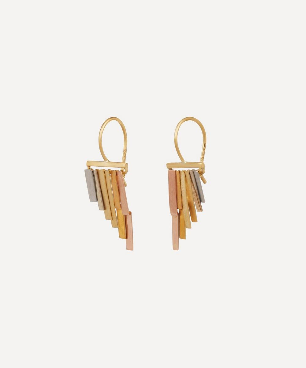 Gold Tiny Rainfall Drop Earrings
