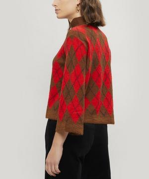 Argyle Roll-Neck Knitted Jumper