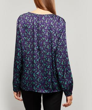 V-Neck Parrot Blouse