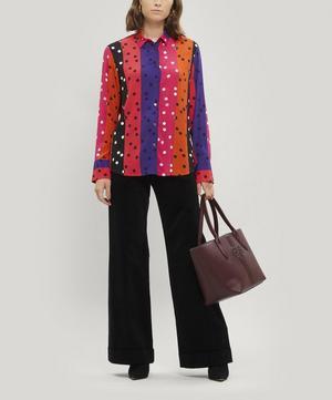 Colour-Block Spot Print Shirt