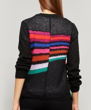 Fluffy Rainbow Stripe Mohair Jumper