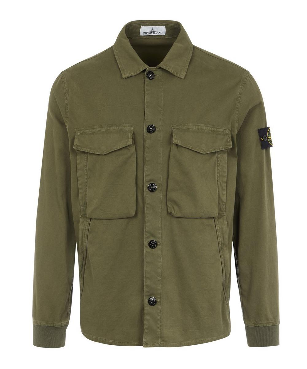 Stone Island T-shirts BRUSHED COTTON SHIRT
