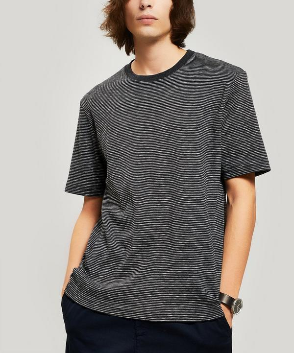 de8725ba93e4a1 Fine Stripe Cotton T-Shirt ...