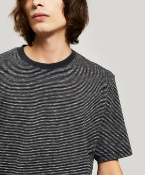 Fine Stripe Cotton T-Shirt