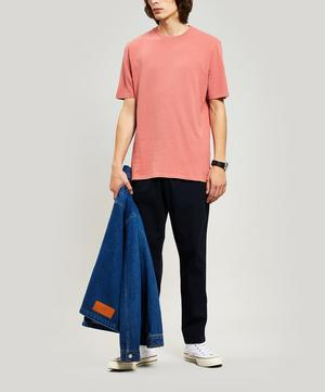 Contrast Sleeve Cotton T-Shirt