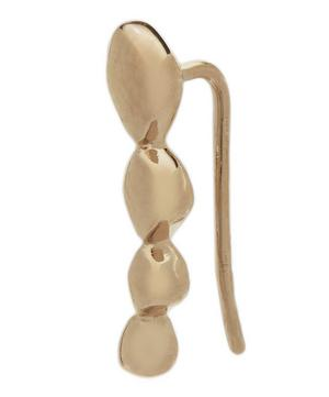 Rose Gold Vermeil Nura Teardrop Single Climber Earring Right