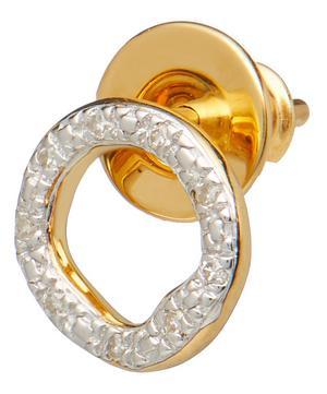 Gold Vermeil Riva Diamond Circle Single Stud Earring