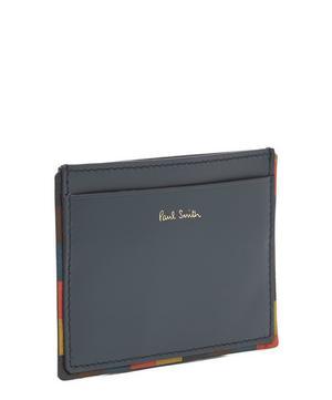 Striped Edge Leather Card Holder