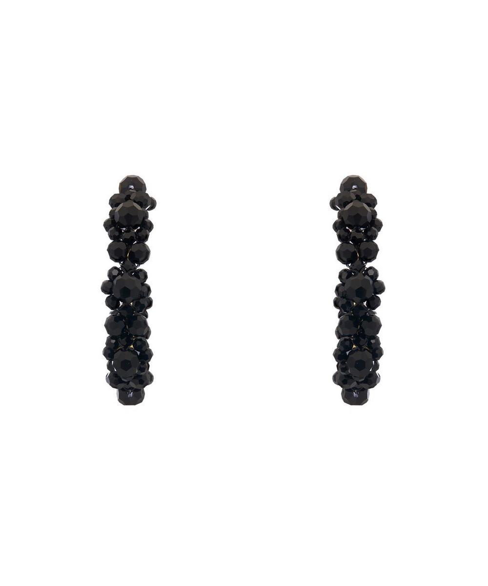 Daisy Large Beaded Hoop Earrings