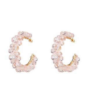 Wiggle Beaded Hoop Earrings