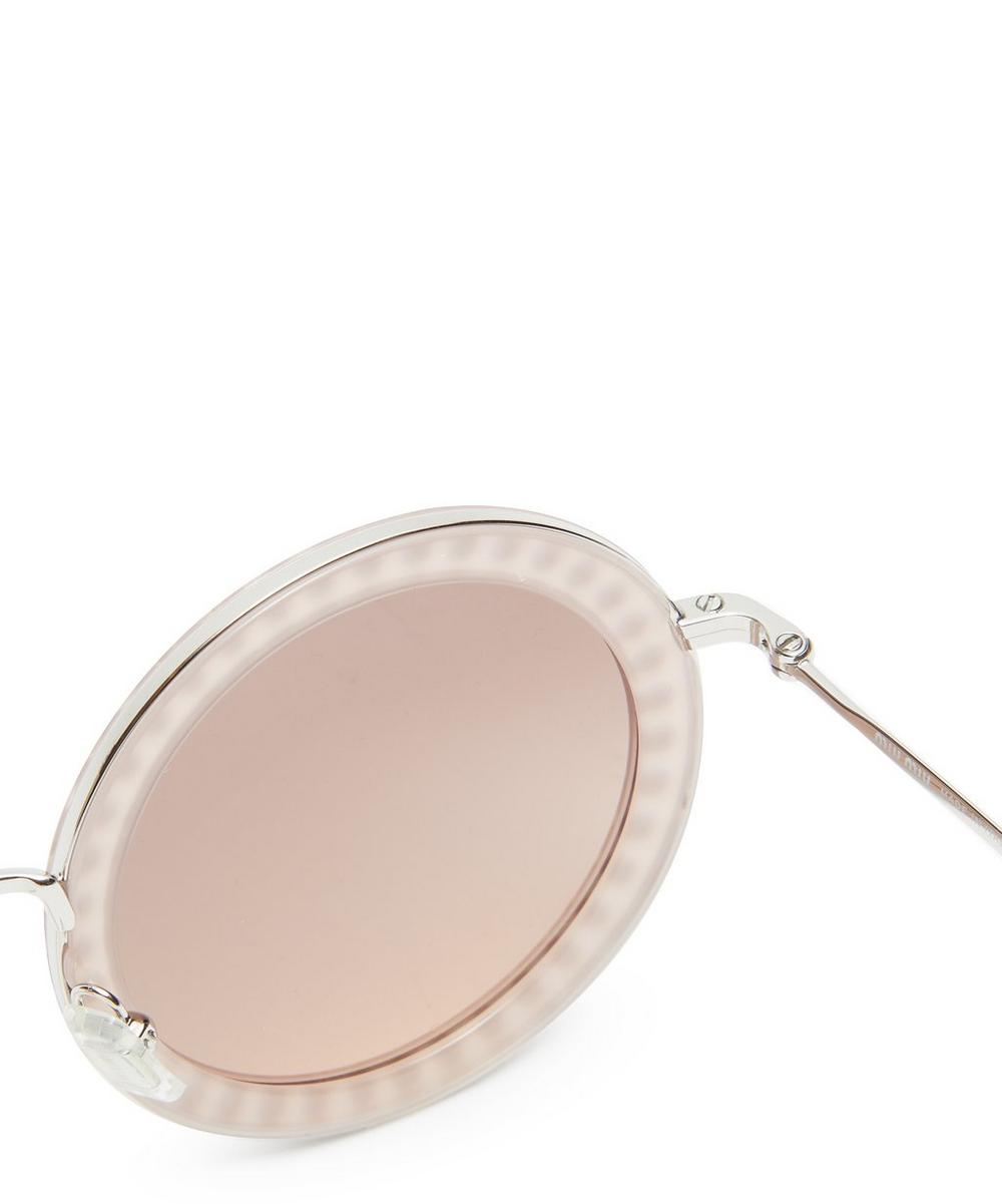 Oversized Round Crystal Sunglasses