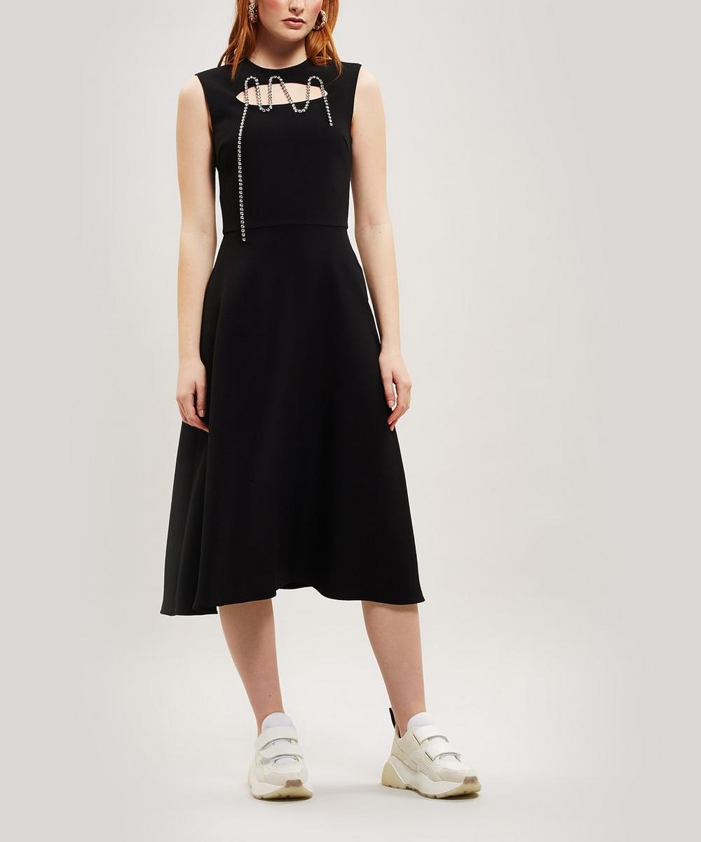 Squiggle Cupchain Crepe Dress