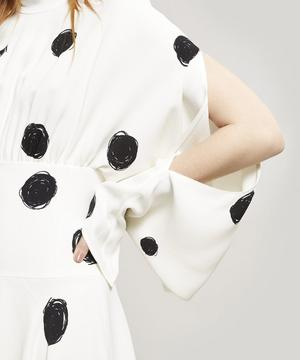 Polka Dot Scribble High-Neck Dress