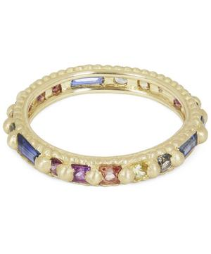 Gold Ramona Rapunzel Rainbow Sapphire Ring