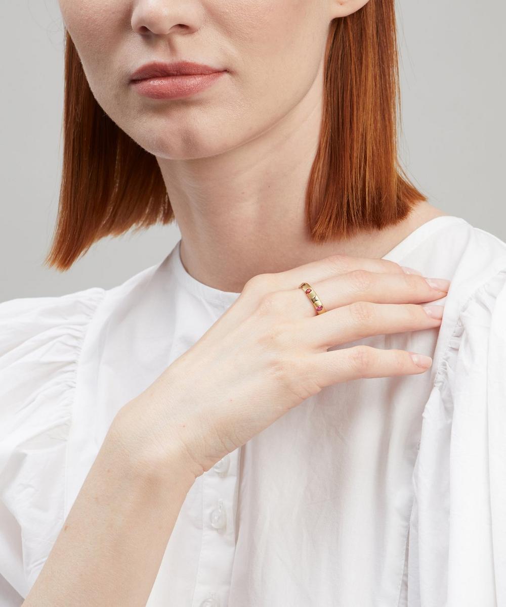 Gold Celeste Harlequin Sapphire Ring