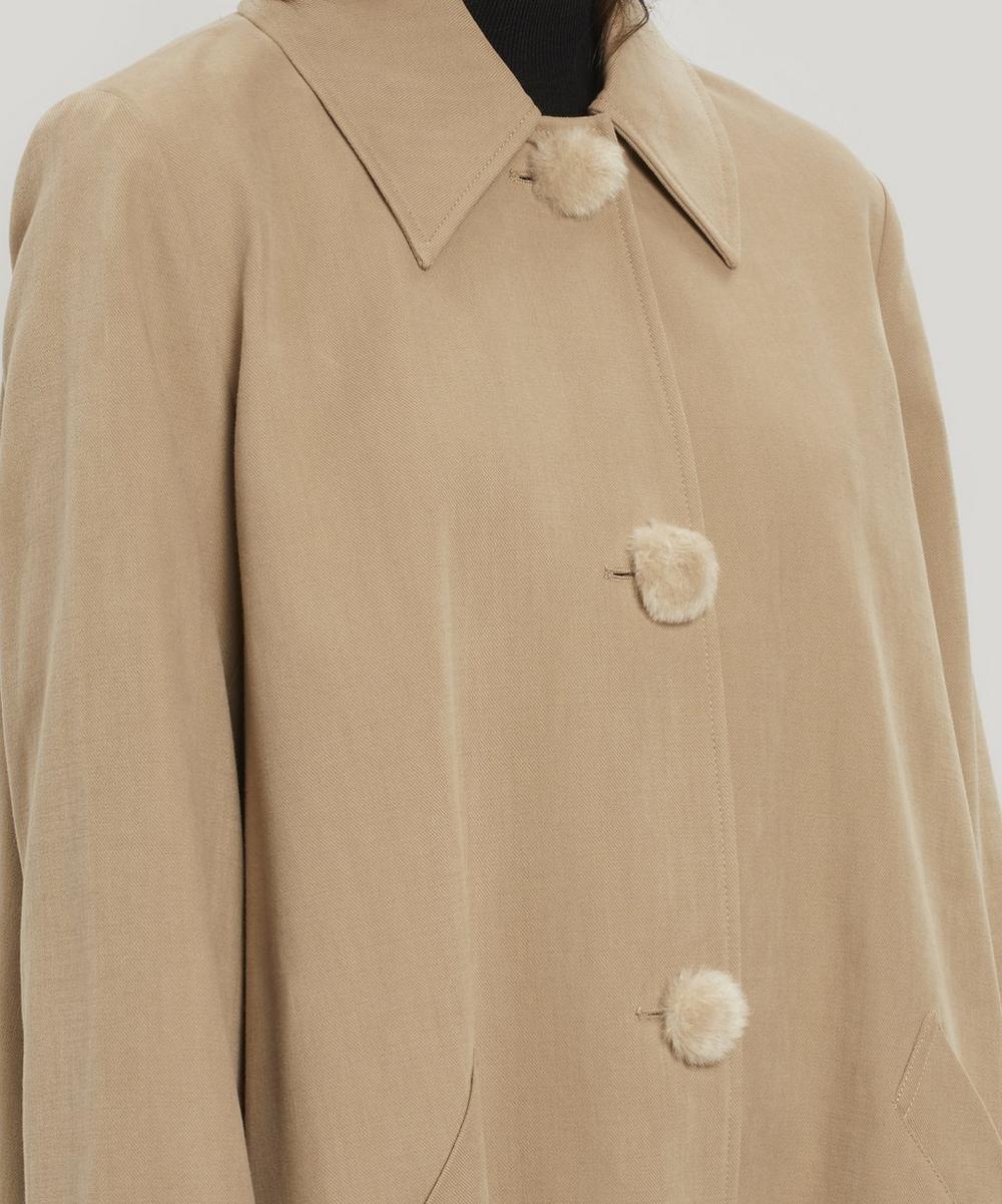 Olympe Pom Pom Mac Coat
