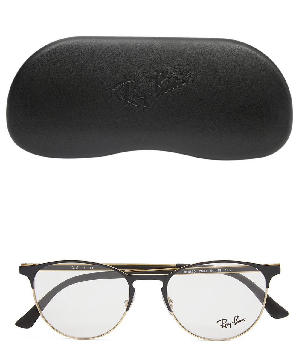 Mixed Metal Half-Frame Optical Glasses