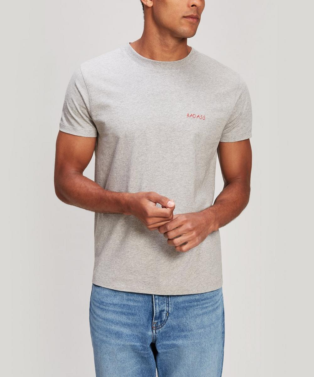 Bad Ass Embroidered Heavy Cotton T-Shirt