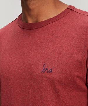 Bro' Embroidered Heavy Cotton T-Shirt
