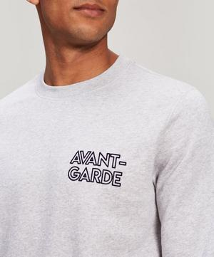Avant-Garde Embroidered Cotton Sweatshirt