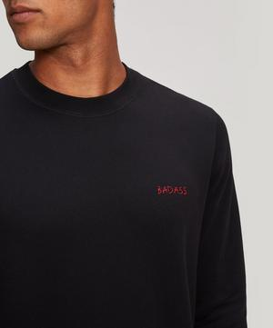 Bad Ass Embroidered Cotton Sweatshirt