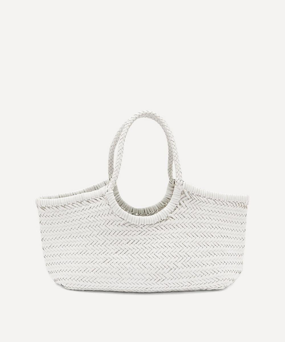 Nantucket Woven Leather Tote Bag