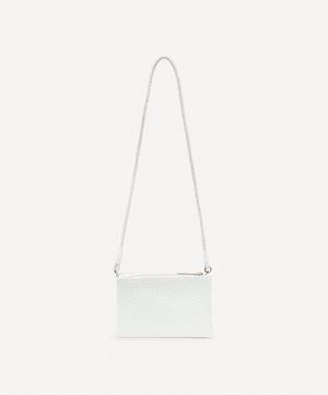 Interlaced Twin Pochette Woven Leather Cross-Body Bag