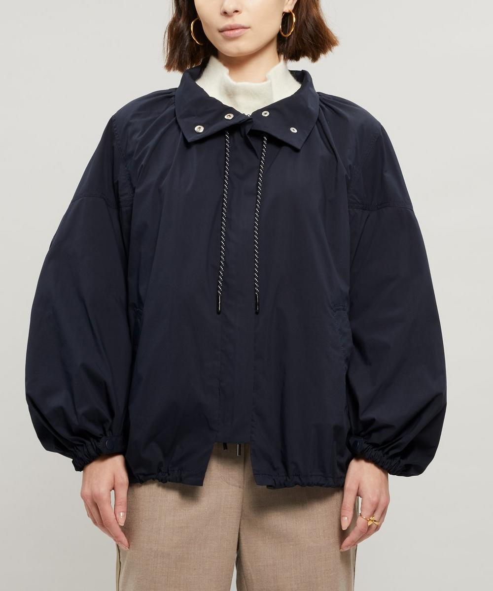 3.1 Phillip Lim Oversized Zip Front Jacket In Blue