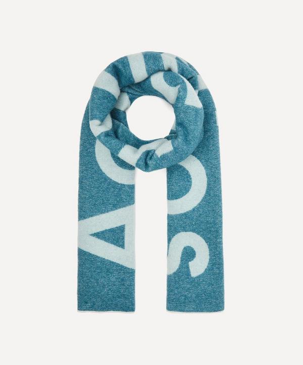 Toronty Wool-Blend Logo Jacquard Scarf
