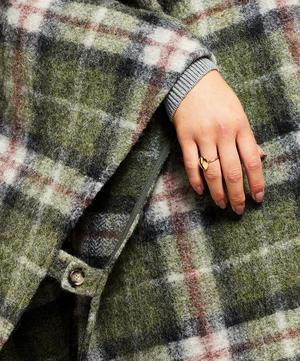Gabin Checked Wool-Blend Poncho