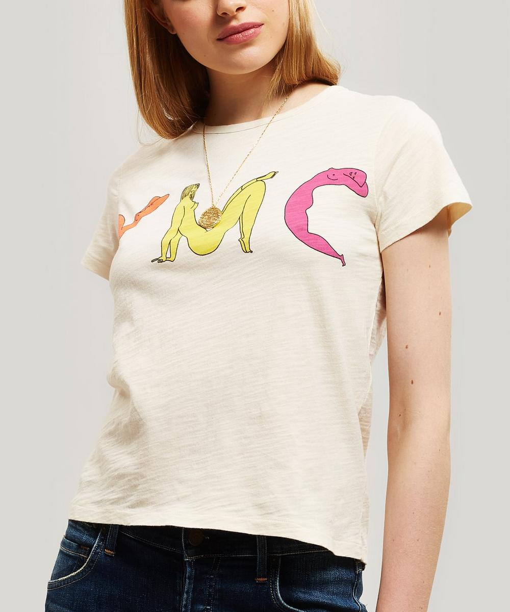 Slub Cotton Psychedelic Women T-Shirt