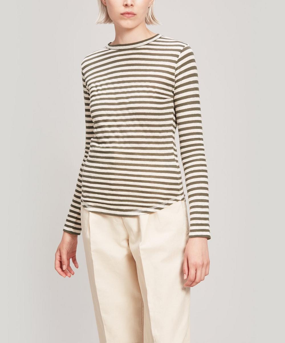Charlotte Linen-Blend Stripe Long-Sleeve T-Shirt