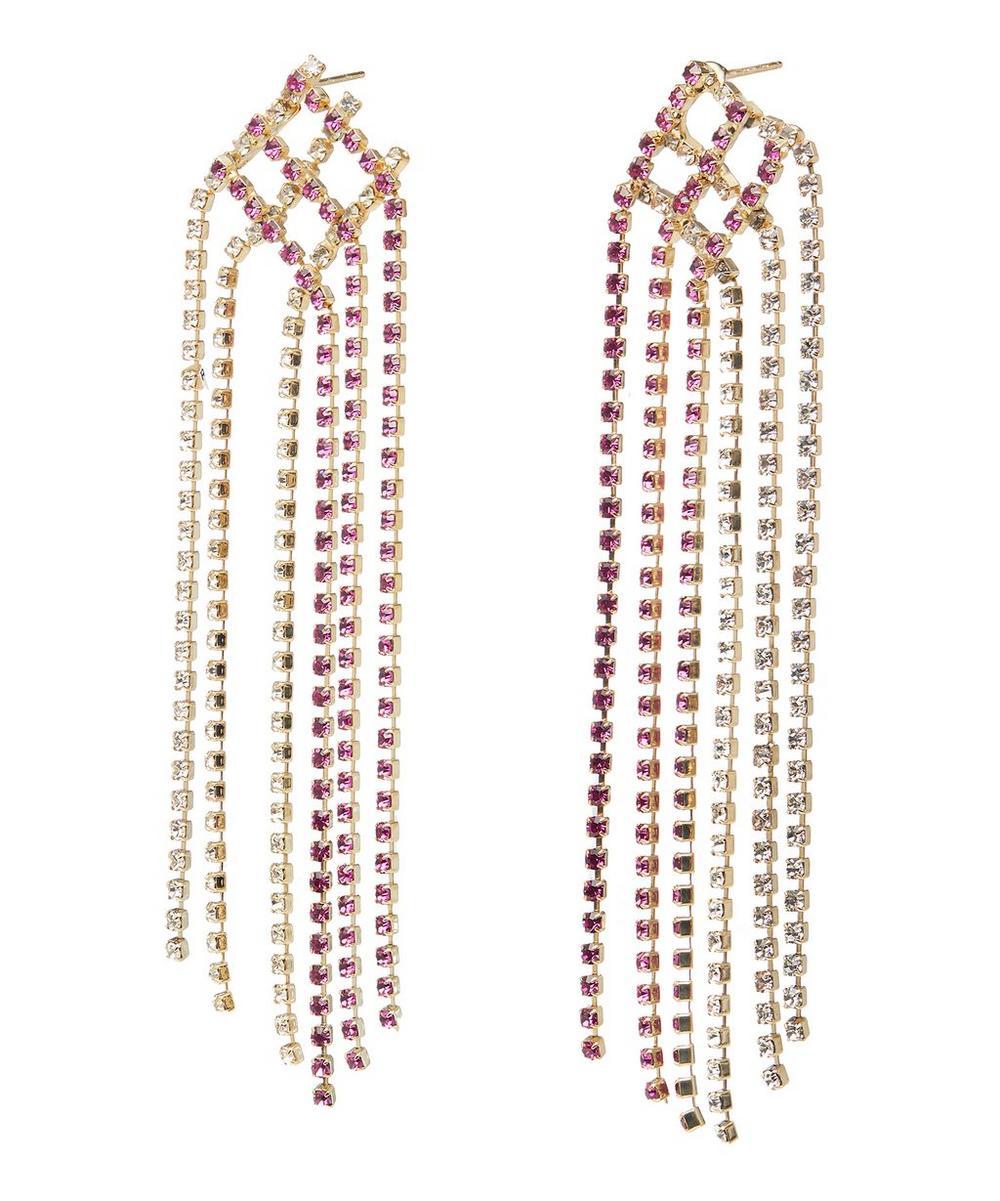 Gold-Tone Oasis Crystal Drop Earrings