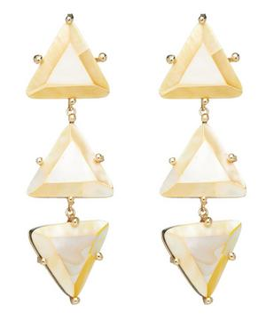 Erinni Mother of Pearl Clip-On Drop Earrings