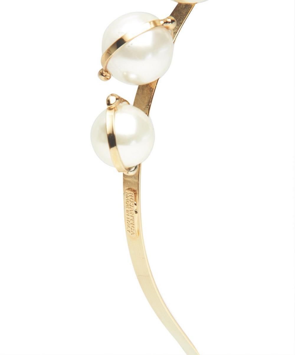 Gold-Tone Epica Faux Pearl Headband