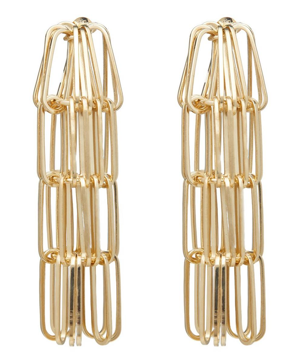 Gold-Tone Muse Chain Drop Earrings