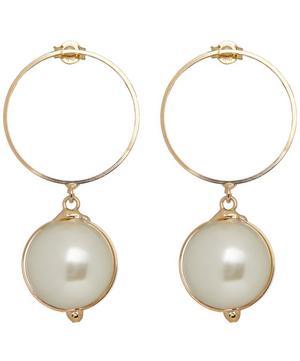 Gold-Tone Epica Faux Pearl Drop Earrings
