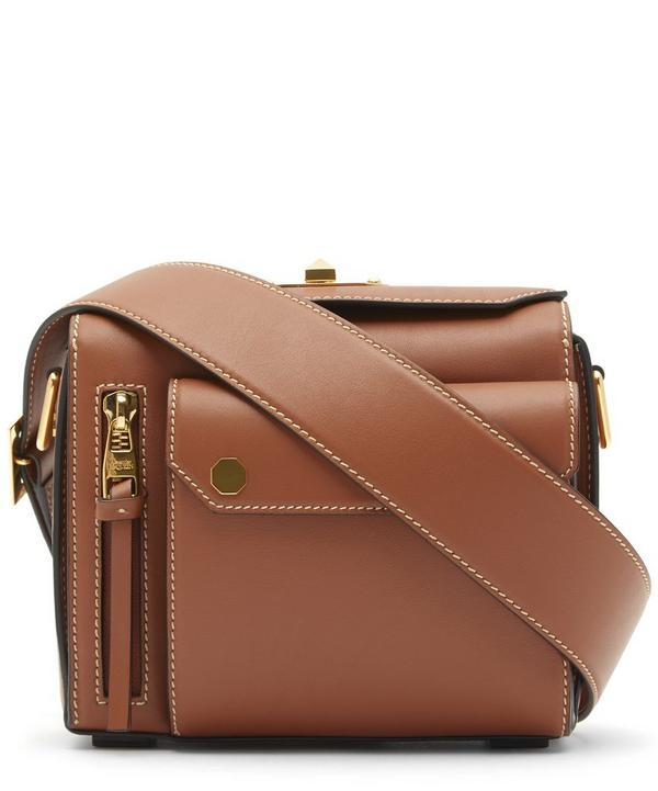 Military Leather Box Bag