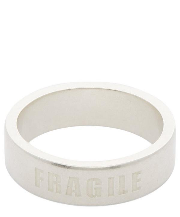 Silver Fragile Engraving Ring