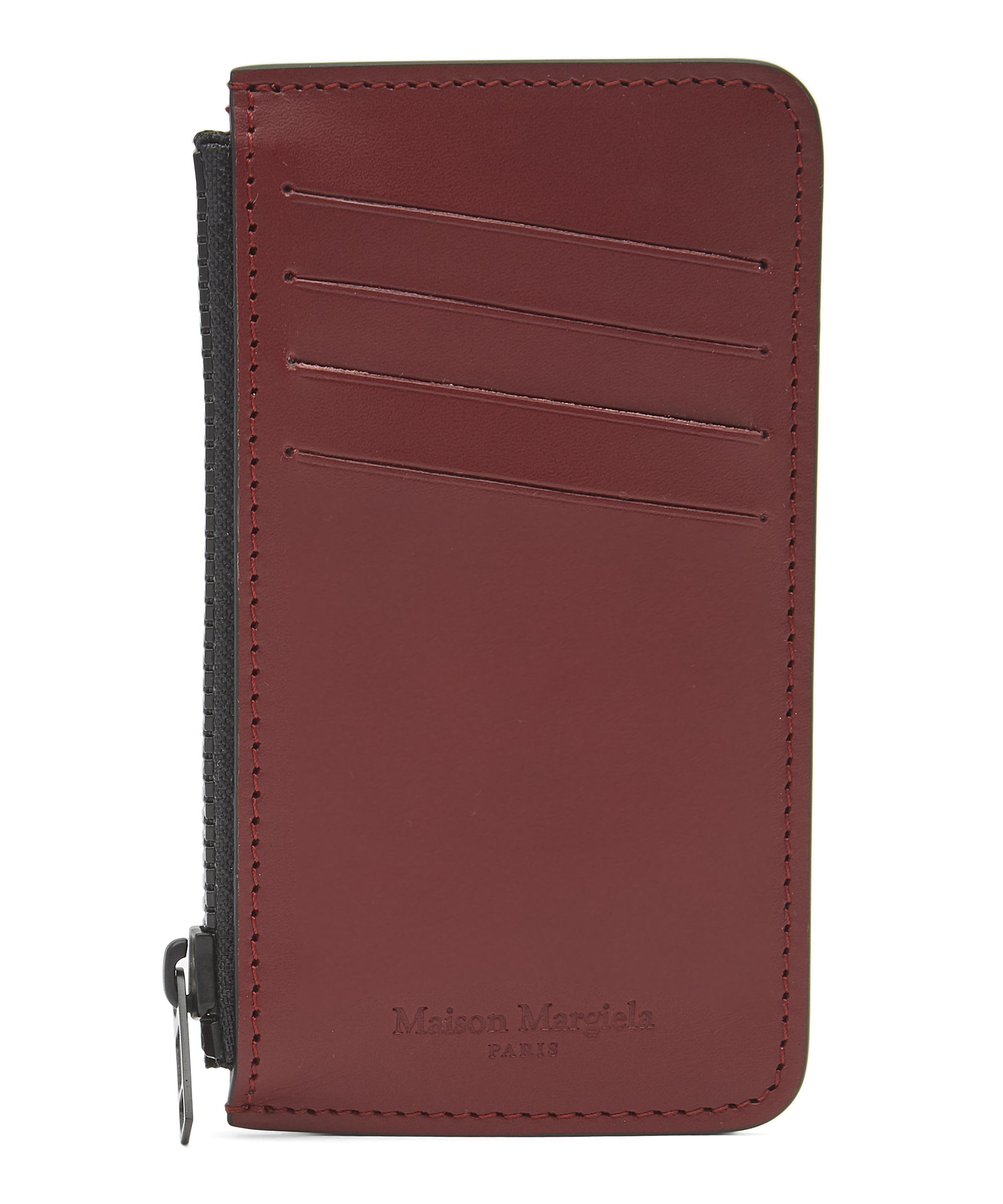 size 40 7cb43 3502c Leather Zip Card Case